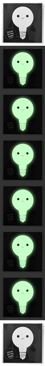 Glow in the dark Card - Lampa
