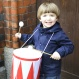 Ben playing the drum Trumma