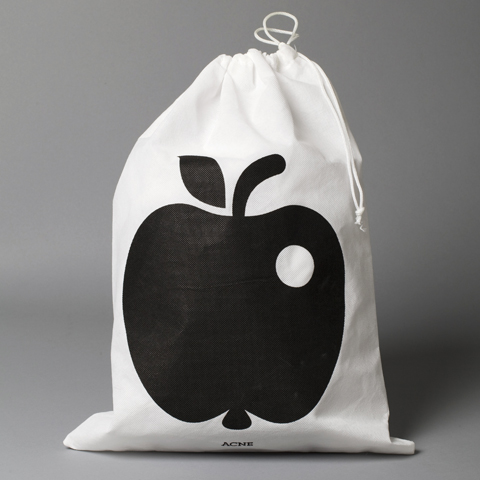 Apple in a dustbag