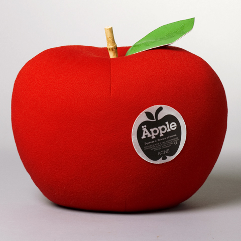 Soft Big apple with fruit sticker