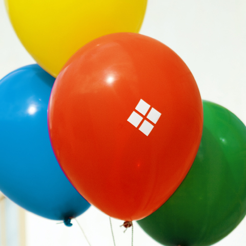 Red, Blue, Yellow & Green Balloon