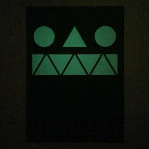 Glow in the dark poster – Monster