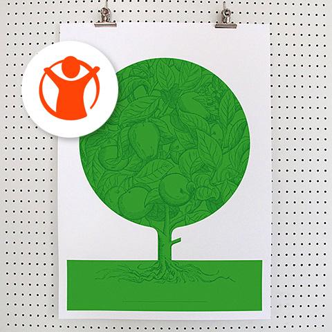 Rädda Barnen Vårdträd poster