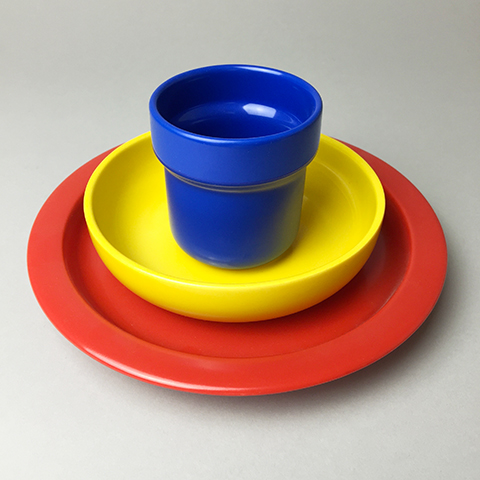 Porcelain children's tableware 3-piece set